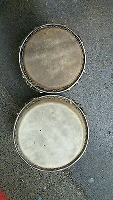 PROFESSIONAL BONGOS 9 AND 22 cm DRUMS HAND PERCUSSION INSTRUMENT WOOD NATURE