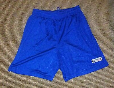"""New in Pack Mens Lined Basketball Shorts Fiddes Sports Size Large 32"""" Royal Blue"""