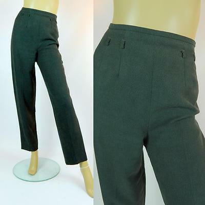 1990s Vintage Country Casuals Lined Dark Green Trousers Pants Size UK 12