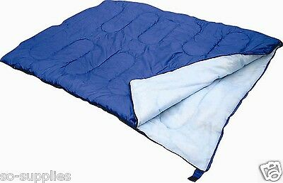 Double Sleeping Bag Camping Caravan Travel Warm Light Weight Compression Storage