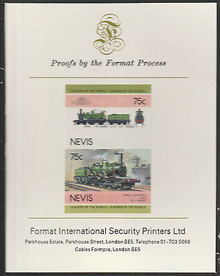 Nevis (2007) Locomotives - Nord L'outrance  imperf on Format Int PROOF  CARD