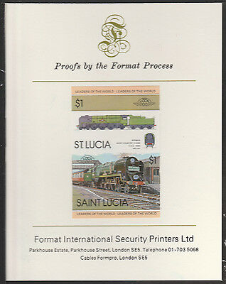 St Lucia (2008) Locomotives #1 West Country imperf on Format Int PROOF  CARD