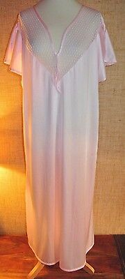Nuisette Robe  Nuit Nylon Voile 54/58 Negligee Sissy Nightwear Nightgown!806