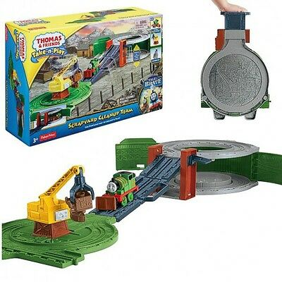 Thomas ei suoi Amici - Play Set Percy & Discarica Take-n-Play - Mattel Thomas an