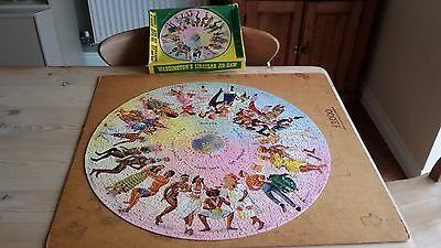 Vintage Incomplete Waddingtons  Dancing Around The World Puzzle