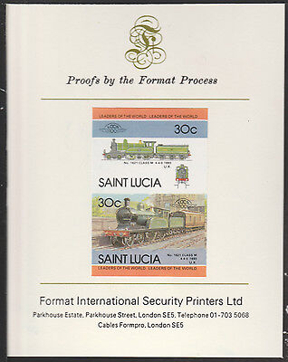 St Lucia (2020) Locomotives #4 Class M 4-4-0  imperf on Format PROOF  CARD