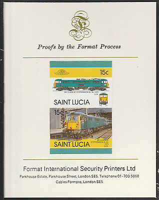 St Lucia (2025) Locomotives #5 Electric Loco imperf on Format PROOF  CARD
