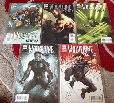 Marvels Wolverine Weapon X 1-5 Variant Cover Set