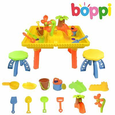Castle Sand and Water Table set with 2 seats and 10 pieces 9809