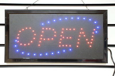 Quality Flashing Colour LED OPEN Shop Sign Display Window Hanging Light (LED111)
