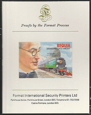 Bequia (2037) - 1986 Engineers Oliver Bullied  imperf on Format PROOF  CARD