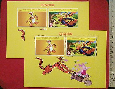Walt Disney TIGGER 2016 CHAD BRIGHT YELLOW stamps for children Sheetlet GIFT