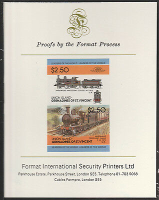 Union Island (2042) Locomotive Hardwicke Precedent  imperf on Format PROOF  CARD