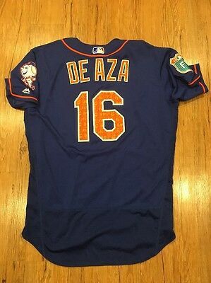 Alejandro De Aza Used /issued. New York Mets Game Spring Training Jersey 2016