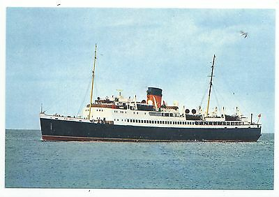 """ISLE OF MAN / SHIPPING - I.O.M. Steam Packet """"S.S. KING ORRY"""" Postcard"""