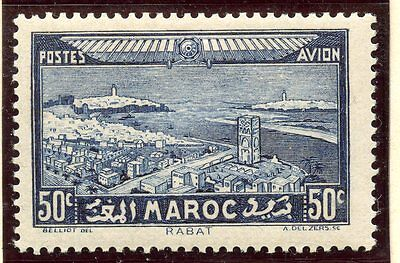 Timbre Colonies Francaises Maroc Poste Aerienne Neuf N° 34 *