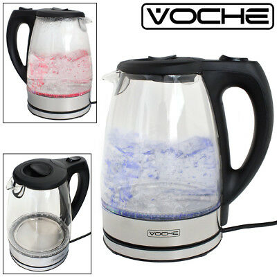 Voche® 1.7 Litre 2200W Dual Illuminated Cordless Electric Jug Kettle Fast Boil