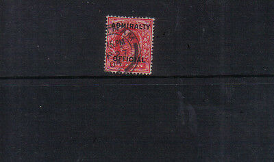 Great Britain Edward VII 1903-04 Admiralty Official 1d used