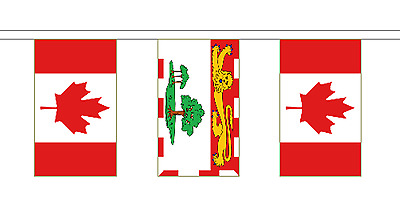 Prince Edward Island & Canada Polyester Flag Bunting - 20m with 56 Flags