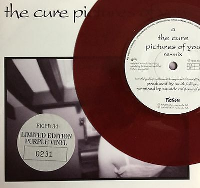 "THE CURE -Pictures Of You- UK Purple Vinyl 7"" +Pic Sleeve LOW NUMBER 0231"