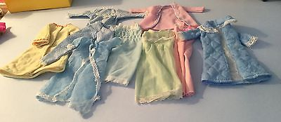 Vintage Sindy and Barbie doll nightwear, pyjama, dressing gowns and negligee etc