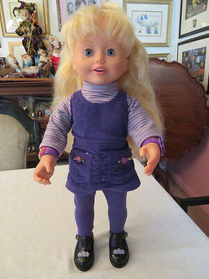 Amazing Ally Doll Let's Play Tea Party Cartridge And Purple Outfit Works Great
