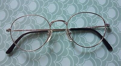 Vintage    Glasses  Silver Frame New   . 48/20  Made  In  Italy  .