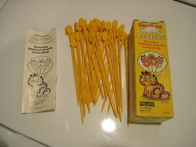 """1983 Parker Brothers """"Garfield Kitty Letters"""" Game Complete with Instructions"""