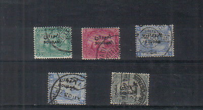 Egypt 1897 overprints Four values to 5pi used