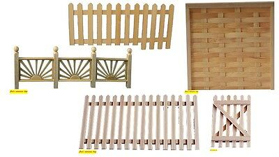 1:12 scale dolls house miniature selection of  garden fencing 5 items choose.
