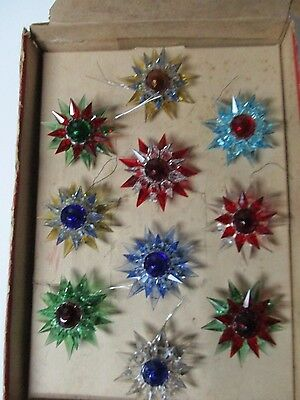 Original Box of 10 - 1930s C-6 Double MATCHLESS STAR Christmas Lights