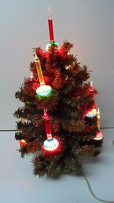Old 1950's Noma 9 Light C-6 GREEN Christmas Bubble Light Tree