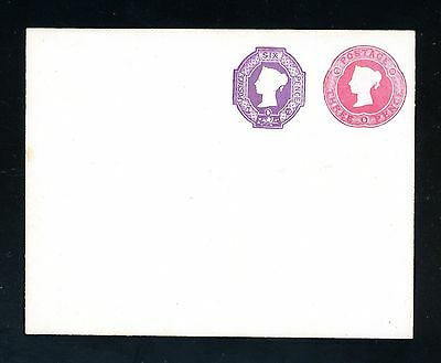 Queen Victoria  (22.6.72) Postal Stationery Envelope 3d + 6d Embossed    (F915)