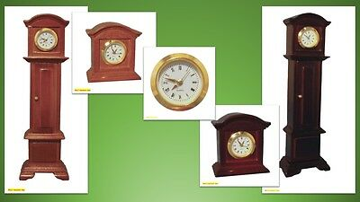 1:12 scale dolls house miniature working clocks batteries inc.5 to choose from.