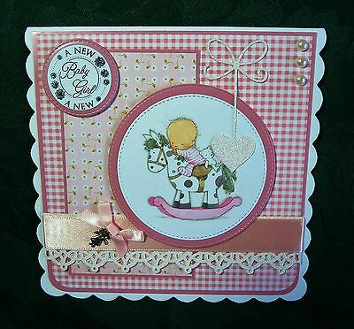A LOTV card for a  new baby girl