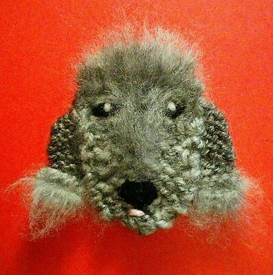 knitted bedlington pup brooch NEW !