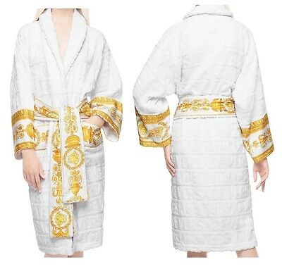 Versace Baroque Medusa Bathrobe - White - Size XL