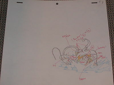 Slayers Try Production Anime Cel Sketch (drawing) - Mermaid (dragon bait) Gourry