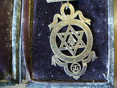 2 Antique Masonic Sterling Silver -Royal Arch T H  Jewels-A Fenwick & Dingley