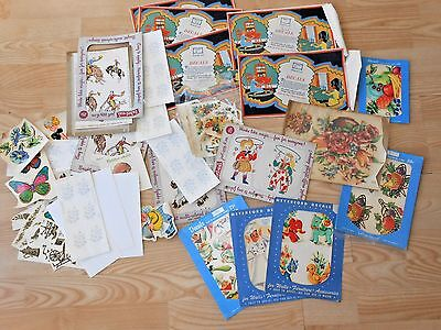 XL Lot Vtg 1940's DECALS Meyercord ART DECO Transfer Cowboys Kitchen Furniture