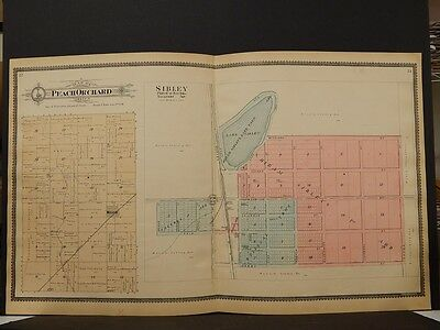 Illinois, Ford County Map, Peach Orchard, Sibley Township 1901 J3#47 Double Page