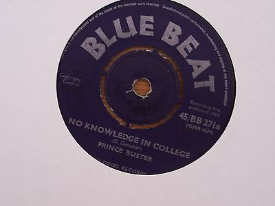 """Prince Buster-No Knowledge In College/in The Middle Of The Night 7"""" Vinyl Ska"""