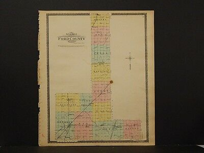Illinois, Ford County Map 1901 J3#50