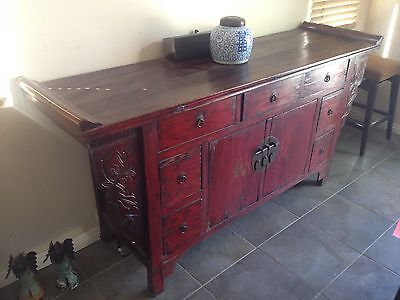 Old Chinese Antique Hebei Altar Cabinet/Buffet Table