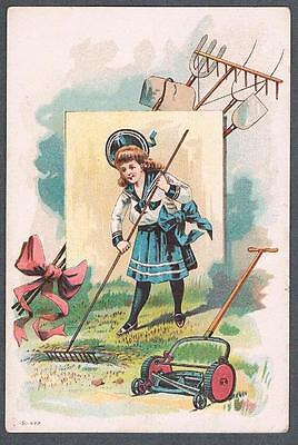 Original 1900's Victorian Montreal William Ewing & Cie Seed Merchants Trade Card