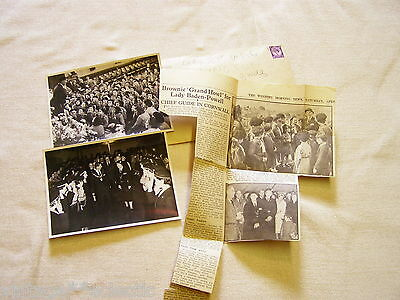 Lady Olave Baden-Powell Press Newspaper Snip & Photos Cornwall 1961 Girl Guides