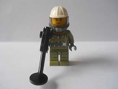 Lego City Worker With Metal Detector  Mini Figure *** New *** From Set No 60120