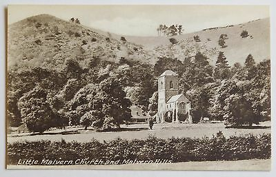 LITTLE MALVERN CHURCH, Malvern Hills, Worcestershire - 1920's - Vintage postcard