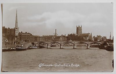 WORCESTER, Cathedral & Bridge - 1910's - Vintage postcard