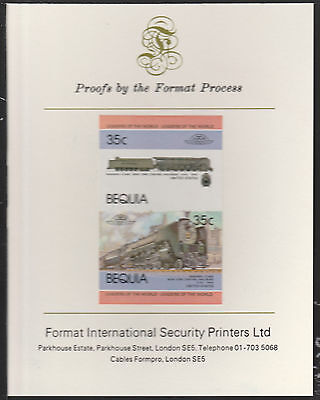 Bequia (2050) Locomotives #1 NYC Niagara Class  imperf on Format PROOF  CARD